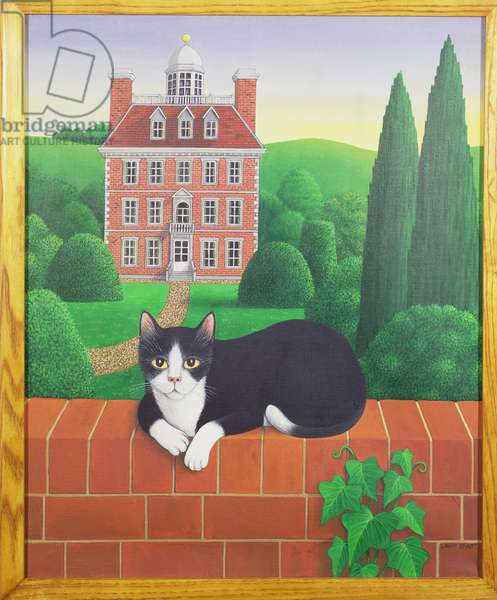 The Cat on the Wall, 1986 (acrylic on linen)