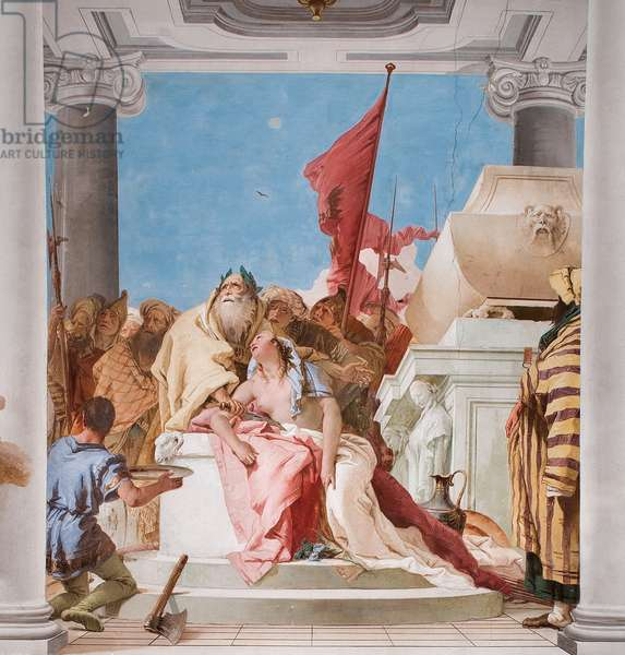 Detail from The Sacrifice of Iphigenia, from the Entrance Hall in the Palazzina, 1757 (fresco)