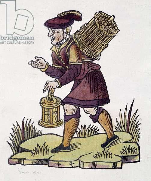 Merchant of forgotten in 1735 in Paris