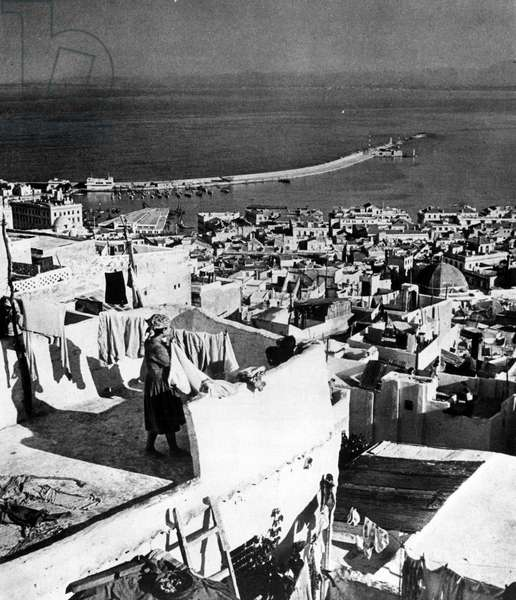 View of the port and the city of Algiers, sd, 19th century