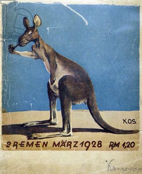 Kangaroo smoking pipe - document 1928