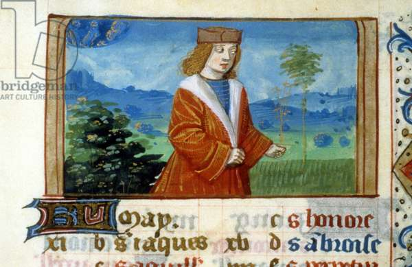 Sign of Gemini and Man in the Fields - Miniature, Middle Ages: Request permission from the Municipal Library of Toulouse (tel: 05 62 27 66 66)