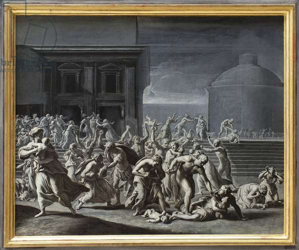 The massacre of the Innocents. Painting attributed to Jacques Stella (1596-1657). Art francais 17th century. Musee des Beaux Arts de Rouen.