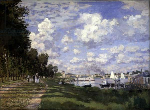The Argenteuil basin - by Claude Monet, 1875, Musée d'Orsay