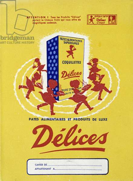 "Advertising for food pasta """" Delices""""."