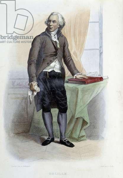 """L'abbé Jacques Delille - in """"Le Plutarque francais"""", Ed. Mennechet, Paris, 1844-1847"""