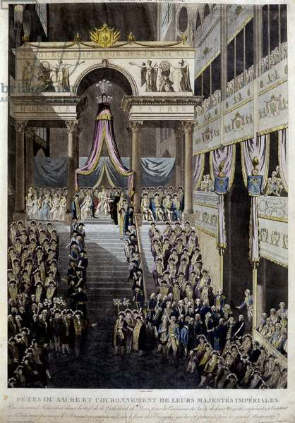 Feast of the coronation and coronation of their imperial majesties in 1804.