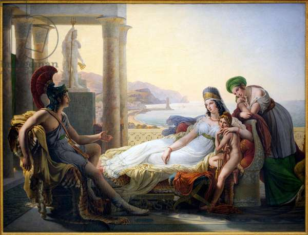 Enee narrant a Didon the misfortunes of Troy - Painting by Baron Pierre Narcisse (Pierre-Narcisse) Guerin (1774-1833), oil on canvas, 1819 - French Art, 19th century - Musee des Beaux Arts de Bordeaux
