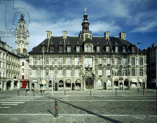 The old Bourse seen from La Grand Place de Lille, France.
