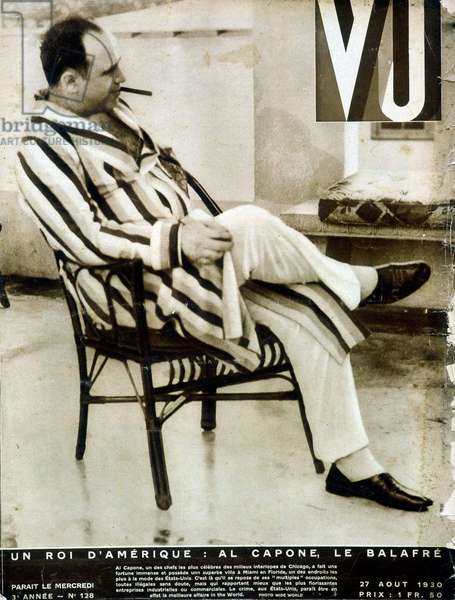 "Portrait of Al Capone - in """" Vu"""" from 27/08/1930"