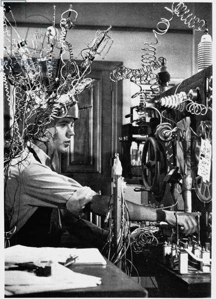 "Science fiction scene from the movie ""The Misaventures of Merlin Jones"", 1963."