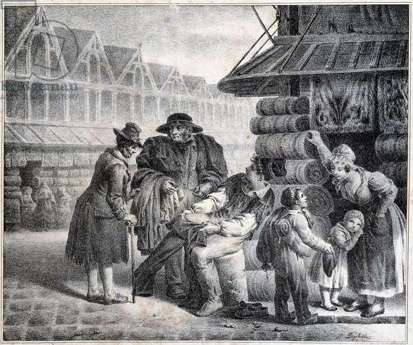 The panty merchant - 19th century in Paris.