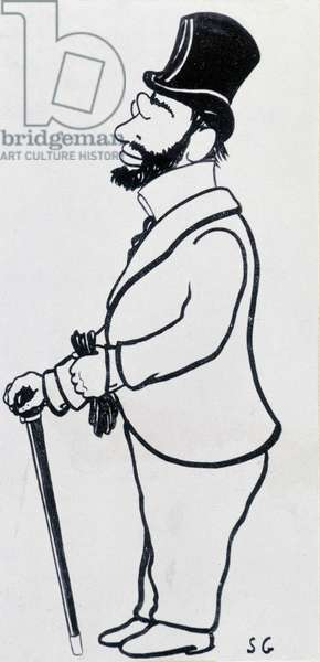 Toulouse Lautrec, Cartoon by Sacha Guitry (1885-1957) Attention! Use of this work may be subject to a third party authorization request or additional fees