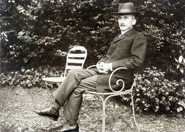 Portrait of Henri Bergson (1859 - 1941) in 1910
