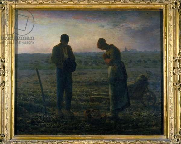 L'Angelus (1857-59) by Jean Francois Millet (1814-1875), 1859.