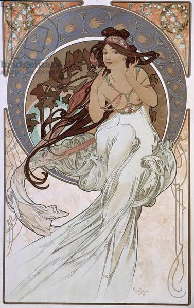 La Musique - by Mucha, 1898.