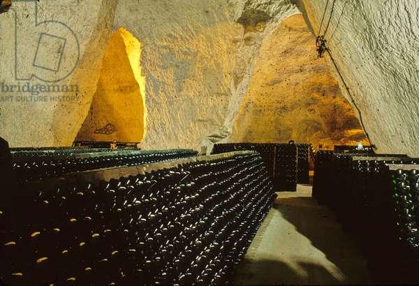 Taittinger champagne cellar in Reims (51).