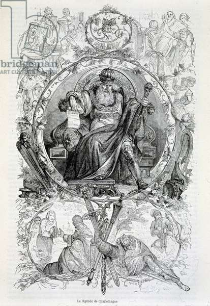 The legend of Charlemagne, engraving
