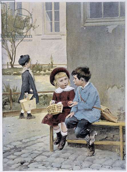 "Free trade - watercolour by Geoffroy in """" Le Figaro Illustré"""""", May 1901"