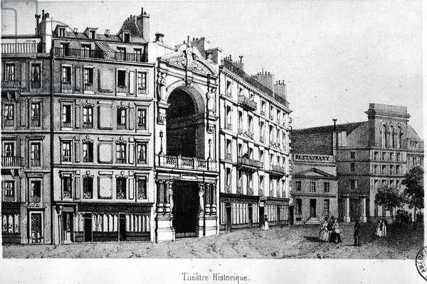 The Historical Theatre in the 19th century - engraving, Carnavalet.¿