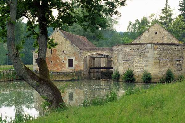"""The Buffon ironworks located in the town of """""""" Buffon"""""""" (21 Cote d'Or). The establishment was designed by Georges Louis Leclerc, Count of Buffon (1707-1788) between 1768-1772 for his expertise necessary for his work on the """"Genesis of minerals""""."""