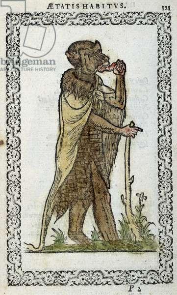 """Le monge debout - in """"Habits et éffigies"""""""" by Jean Sulperius, 1572"""