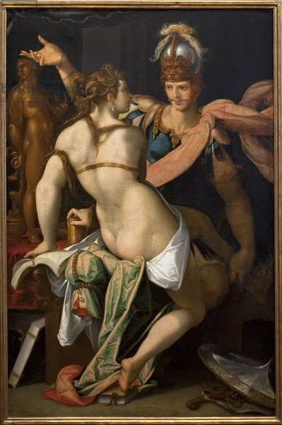 Ulysses and Circe. Painting by Bartholomeus Spranger (1546-1611), oil on canvas, 16th century. Kunsthistorisches Museum, Vienna, Austria.
