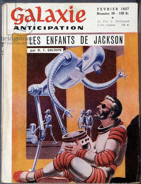 """Man and robot - in """""""" Galaxy"""""""", Feb. 1957"""
