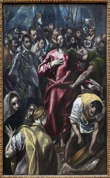 Christ stripped of his tunic. Painting by Domenikos Theotokopoulos called The Greco (1541-1614), oil on canvas, between 1583 and 1584 (99 x 165 cm). Spanish art, 16th century. Munich, Alte Pinakothek (Germany).