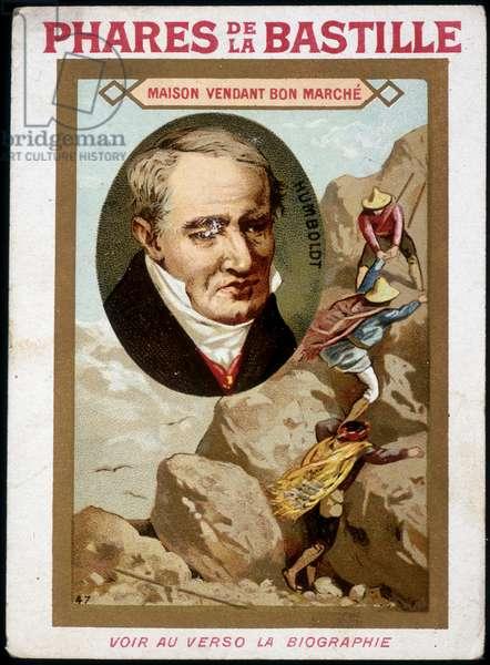 Alexander Von Humboldt (Alexander of Humboldt, 1769-1859) German naturalist and traveler, portrait and expedition - chromo., deb. 20th century
