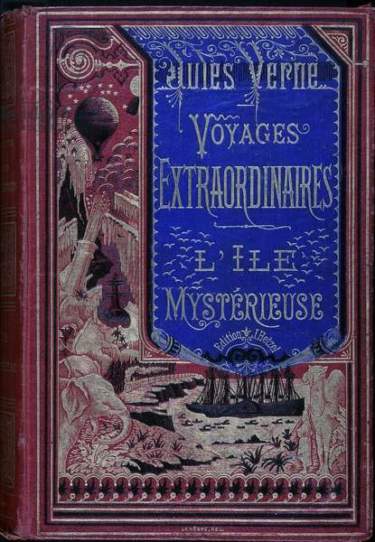 "Cover """" Extraordinary Journey: The Mysterious Island"""" by Jules Verne."