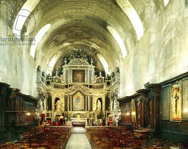 Interior of the Church of Saint Bruno, Bordeaux (France).