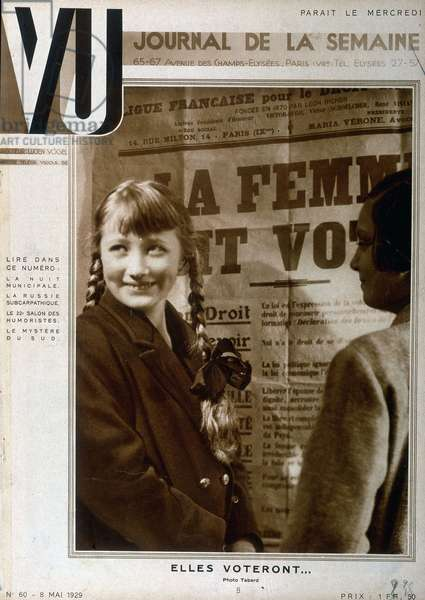 "The woman must vote - in """" Vu"""" of 09/05/1929"