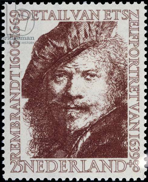 Stamp of the Netherlands on Rembrandt