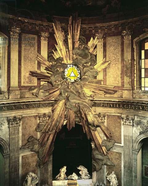 Interior of the Church of Saint Roch, Chapel of the Virgin, Paris.