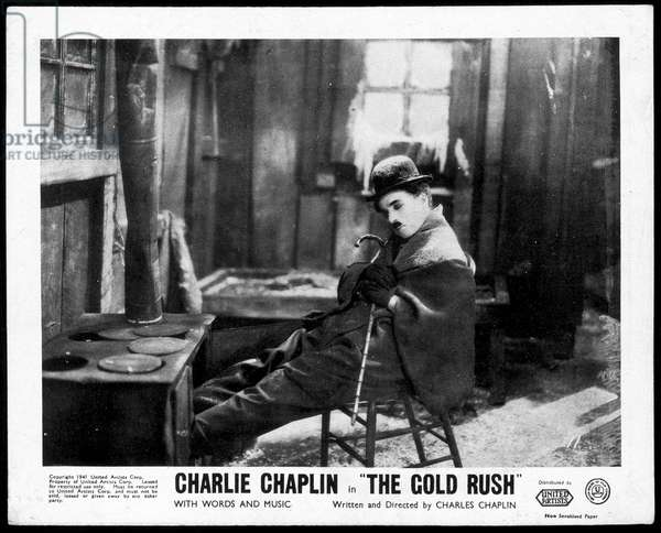 "Charlot - in ""The cold rush"""", film by Charlie Chaplin"