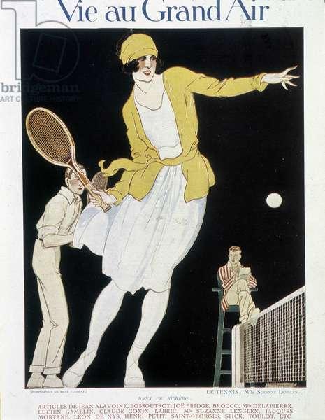 """Suzanne Lenglen - in """"La vie au grand air"""""""", early 20th century"""