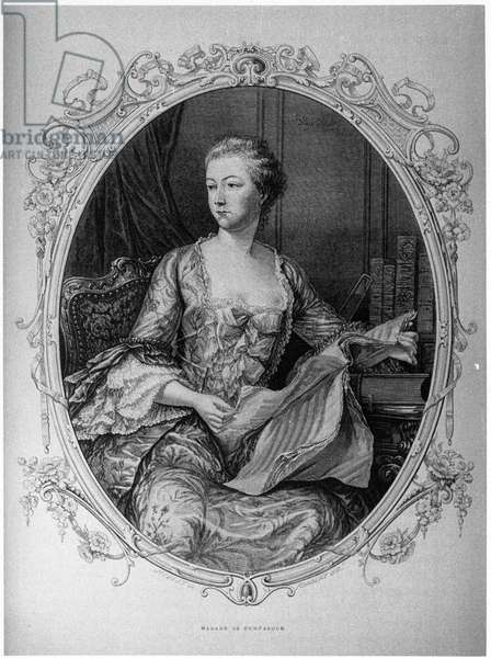 Madame de Pompadour, Jeanne Antoinette Poisson (1721-1764) (Marquise de Pompadour) favorite by Louis XV - Musee Carnavalet.