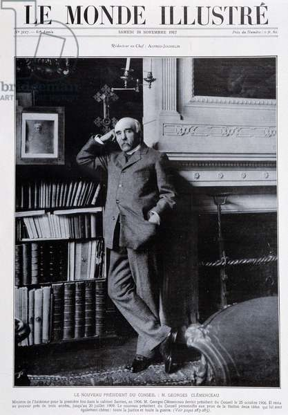 "The new Chairman of the Board: Mr. Georges Clemenceau - in """" The Illustrous World"""", 24/11/1917"