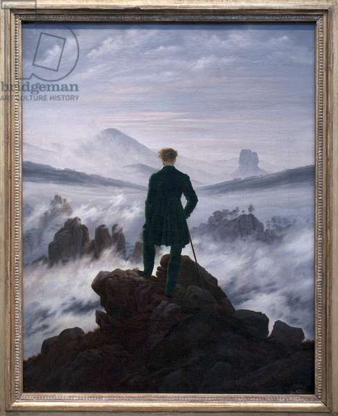 The Wanderer above the Sea of Fog, c.1817 (oil on canvas)
