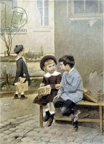 School: free exchange - Geoffroy, 1888