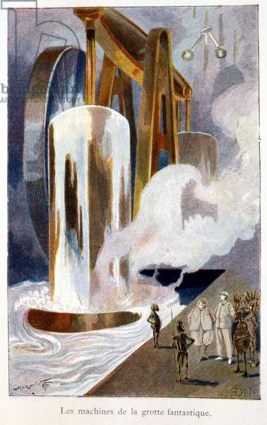"""The machines of the fantastic cave - in """"The First Men in the Moon"""""""" by H.G. Wells. Sd."""