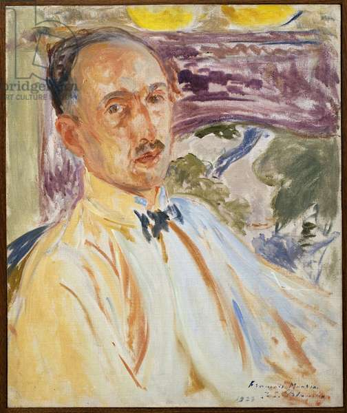 Study for the portrait of Francois Mauriac (1885-1970). Painting by Jacques Emile Blanche (1861-1942), oil on canvas, 1923, 20th century french art. Musee des beaux arts de Rouen.