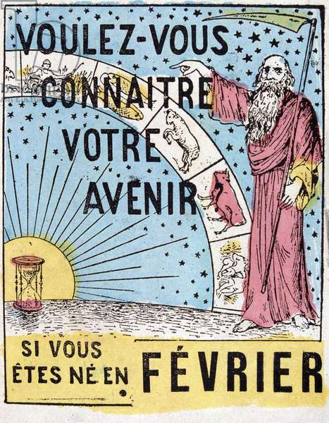 Do you want to know your future? : Nostradamus. 19th century astrological advertising label