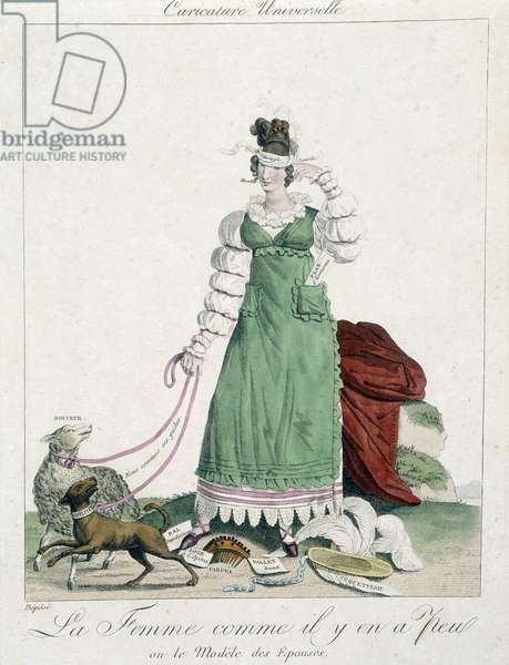 """Cartoon on love: """"The woman as there are few or the model of wives"""""""", Carnavalet"""
