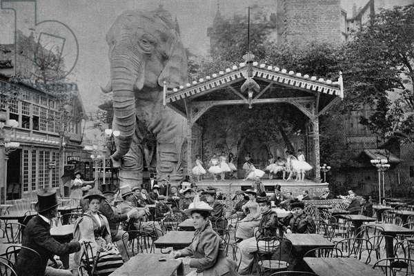 Scene at the Moulin Rouge, Paris (b/w photo)