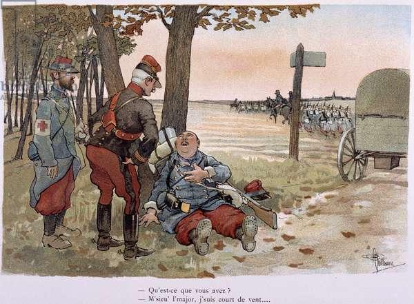 "Au 30entieme kilometer - in """" Album militaire"""" by Albert Guillaume (1873-1942), ca. 1900"