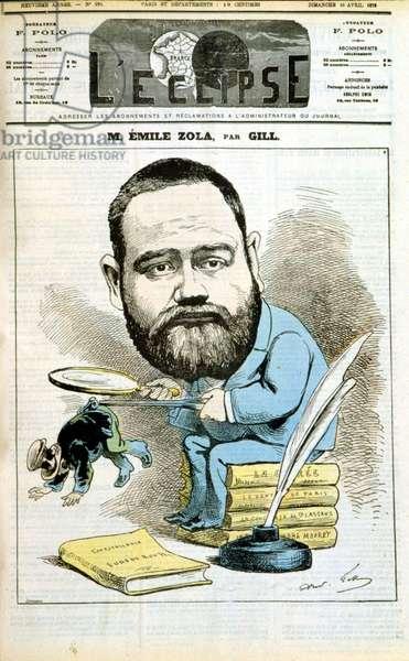 Portrait of Emile Zola, 1876 (colour litho)