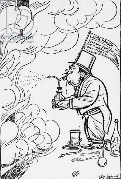 "Russian cartoon ""Europe can sleep peacefully""""."