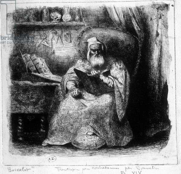Portrait of Nostradamus by Bonnelier, 19th century, Bibl. des Arts deco.